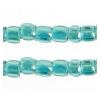 3 Cut Beads 10/0 Transparent Iris Green